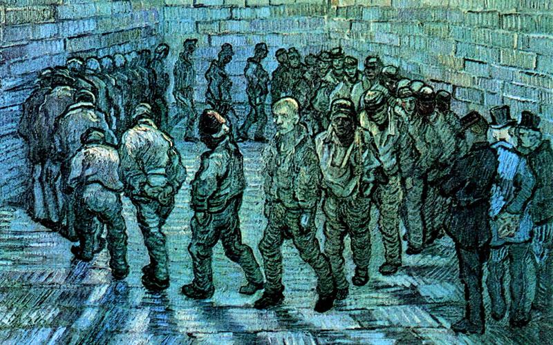Винсент Ван Гог, «Прогулка заключенных». Иллюстрация: wikipedia/commons